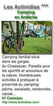 Camping Les Actinidias en Ardèche